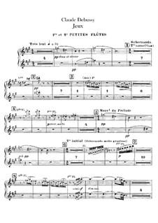 Jeux (Games), L.126: Flutes parts by Claude Debussy