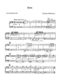 Jeux (Games), L.126: Cellos part by Claude Debussy