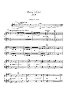 Jeux (Games), L.126: Violins II part by Claude Debussy