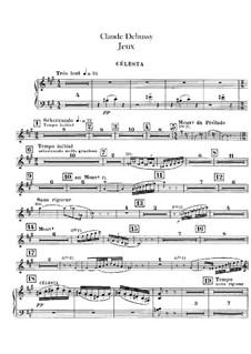 Jeux (Games), L.126: Celesta part by Claude Debussy