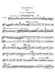 Jeux (Games), L.126: Trumpets parts by Claude Debussy