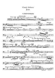 Jeux (Games), L.126: Sarrusophon part by Claude Debussy