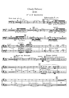 Jeux (Games), L.126: Bassoons parts by Claude Debussy
