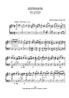 Three Characteristic Pieces, Op.10: No.3 Contrasts, for piano by Edward Elgar