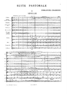 Pastoral Suite: Full score by Emmanuel Chabrier