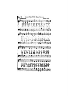 Crown Him with Many Crowns: Vocal score by George Job Elvey