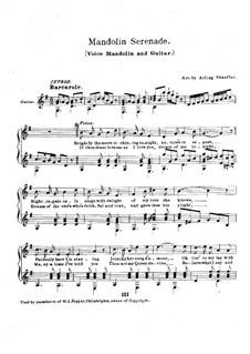 Serenade: For voice, mandolin and guitar by Fernando Sor