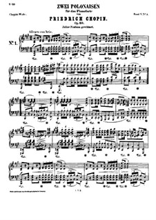 Polonaises, Op.40: Complete set by Frédéric Chopin