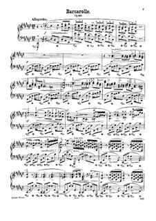 Barcarolle in F Sharp Major, Op.60: For piano (with fingering) by Frédéric Chopin
