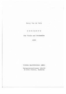 Concerto for Viola and Orchestra: Full score by Nancy Van de Vate