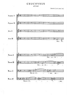 Crucifixus: Vocal score by Antonio Lotti