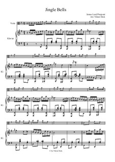 Jingle Bells: For viola and piano by James Lord Pierpont