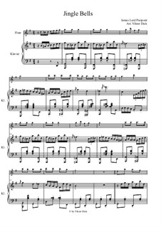 Jingle Bells: For flute and piano by James Lord Pierpont