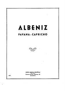 Pavana-Capricho, Op.12: For piano by Isaac Albéniz