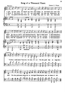 Song of a Thousand Years: Piano-vocal score by Henry Clay Work