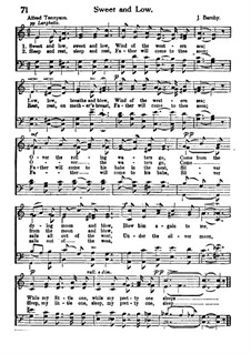 Sweet and Low: For mixed choir by Joseph Barnby