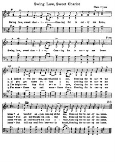 Swing Low, Sweet Chariot: For choir by folklore