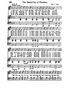 The Battle Cry of Freedom: In G Major by George Frederick Root