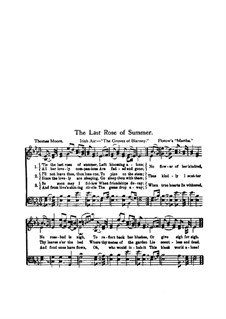 Martha, or The Market at Richmond: The Last Rose of Summer for voices by Friedrich von Flotow