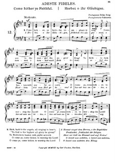 O Come All Ye Faithful: For voice and piano (A Major) by John Francis Wade