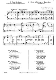 O Sanctissima (Oh, How Joyfully): Piano-vocal score by folklore