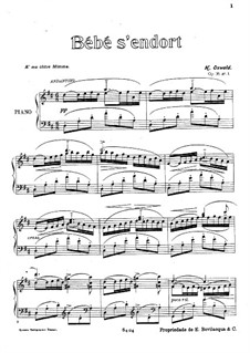 Three Pieces for Piano, Op.36: Three Pieces for Piano by Henrique Oswald