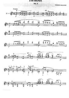 Twelve Spanish Dances: Dance No.3, for guitar by Enrique Granados