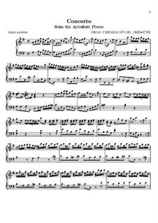 Aylesford Pieces: Concerto by Georg Friedrich Händel