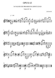 Thirty-Six Waltzes for Guitar, Op.63: No.36 by Luigi Legnani