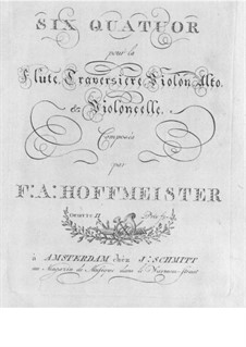 Six Quartets for Flute and Strings, Op.2: Cello part by Franz Anton Hoffmeister