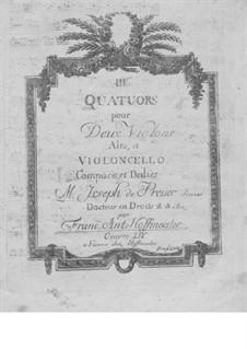 Three String Quartets, Op.14: Violin I part by Franz Anton Hoffmeister