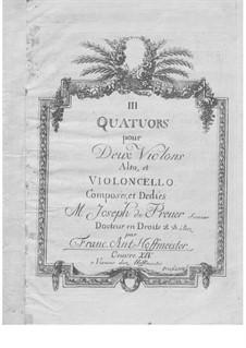 Three String Quartets, Op.14: Violin II part by Franz Anton Hoffmeister