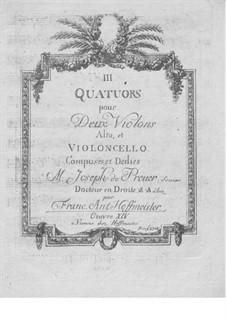 Three String Quartets, Op.14: Viola part by Franz Anton Hoffmeister