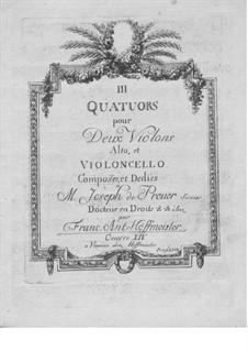 Three String Quartets, Op.14: Cello part by Franz Anton Hoffmeister