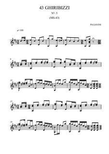 Forty-Three Ghiribizzi, MS 43: Ghiribizzo No.5 by Niccolò Paganini