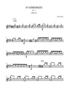 Forty-Three Ghiribizzi, MS 43: Ghiribizzo No.7 by Niccolò Paganini