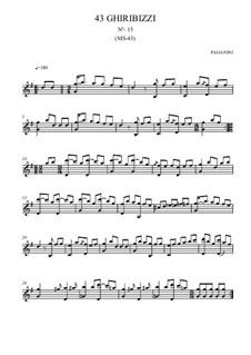 Forty-Three Ghiribizzi, MS 43: Ghiribizzo No.15 by Niccolò Paganini