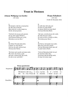 Trost in Tränen (Consolation in Tears), D.120: Piano-vocal score by Franz Schubert