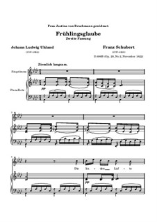 Frühlingsglaube (Faith in Spring), D.686 Op.20 No.2: Second version by Franz Schubert