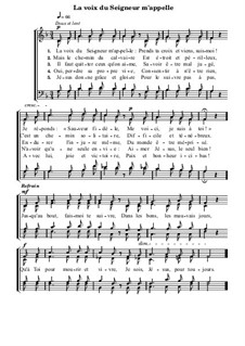 La voix du Seigneur m'appelle: La voix du Seigneur m'appelle by Arthur Seymour Sullivan