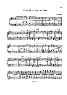 Two Waltz-Capricеs: For piano by Alexander Taneyev