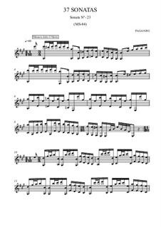 Thirty-Seven Sonatas for Guitar, MS 84: Sonata No.23 by Niccolò Paganini