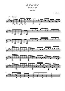 Thirty-Seven Sonatas for Guitar, MS 84: Sonata No.35 by Niccolò Paganini