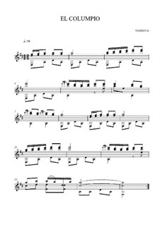 El columpio: For guitar (high quality sheet music) by Francisco Tárrega