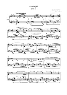 Two Arabesque, L.66: Arabesque No.1 (high quality sheet music) by Claude Debussy
