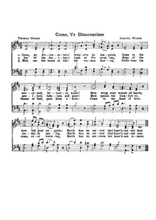 Come, Ye Disconsolate: For mixed choir by Samuel Webbe
