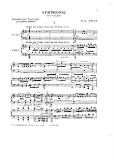 Symphony in C Major: Movement I, for Two Pianos Four Hands by Paul Dukas