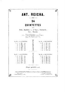 Woodwind Quintet in G Major, Op.99 No.6: Parts by Anton Reicha