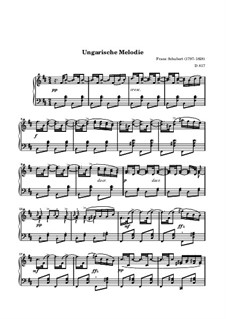 Hungarian Melody, D.817: For a single performer by Franz Schubert