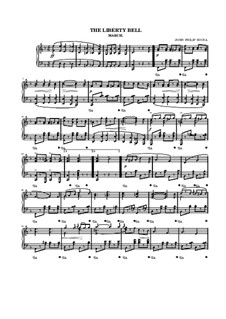The Liberty Bell: For piano by John Philip Sousa